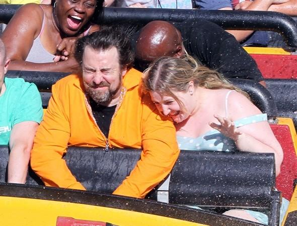 Jonathan Ross hits the roller coasters at Universal Studios