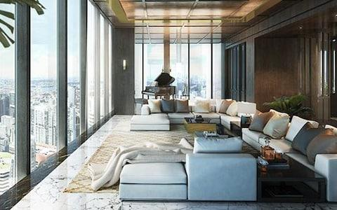 The Wallich Residence Super Penthouse was reportedly bought for £44m; it had previously been listed at £59m - Credit: James Edition