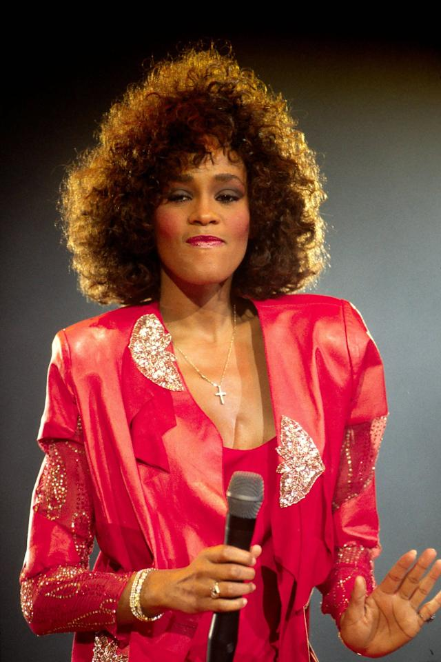 ***File Photo*** * WHITNEY HOUSTON DEAD AT 48 WHITNEY HOUSTON has died at the age of 48.   The How Will I Know singer was working on a major chart and film comeback after years of drug issues when she passed away on Saturday (11Feb12).   The cause of her death was unknown when WENN went to press.   More details and obituary to follow. (KL/WN/KL)   Whitney Houston  performing live at Wembley Arena on The Moment of Truth Tour over seven sold out nights London, England - May 1988 ***Only available for publication in the USA not available for the rest of the world*** Credit: (Mandatory): George Chin / WENN