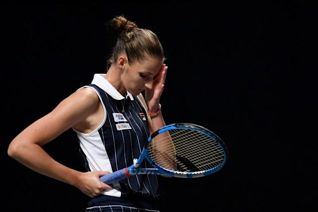 Karolina Pliskova has parted company with coach Conchita Martinez (AFP Photo/Noel CELIS)