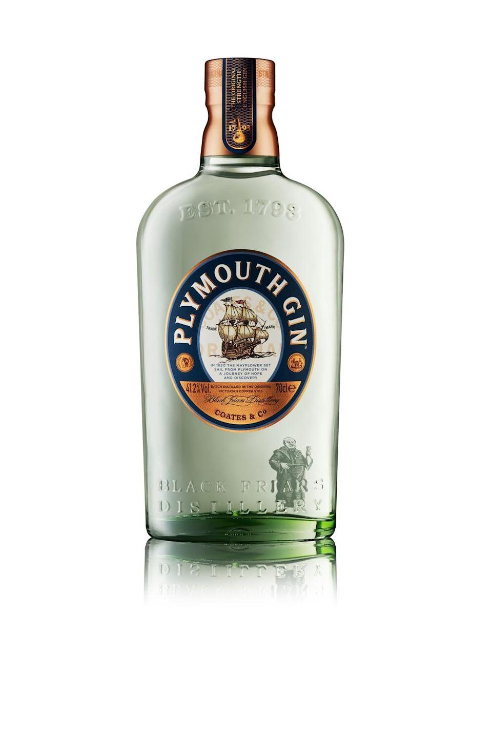 """<p>The oldest working gin distillery in England, <a href=""""https://www.plymouthgin.com/en-EN"""" rel=""""nofollow noopener"""" target=""""_blank"""" data-ylk=""""slk:Plymouth Gin"""" class=""""link rapid-noclick-resp"""">Plymouth Gin</a> has used the same recipe since 1793. The scent is fresh and clean when you first pop open the bottle. On tasting, the gin is warming and very smooth. The botanicals include coriander seeds, lemon peel, angelica root and green cardamom. There is also a navy-strength gin available, a sloe gin and a fruit cup. </p><p>Pair it with <a href=""""https://artisandrinks.com/drinks/pink-citrus-tonic/"""" rel=""""nofollow noopener"""" target=""""_blank"""" data-ylk=""""slk:Artisan Drinks Pink Citrus tonic"""" class=""""link rapid-noclick-resp"""">Artisan Drinks Pink Citrus tonic</a>. The zesty citrus flavour of blood orange and lemon in this award-winning mixer gives the G&T a tasty tang.</p>"""