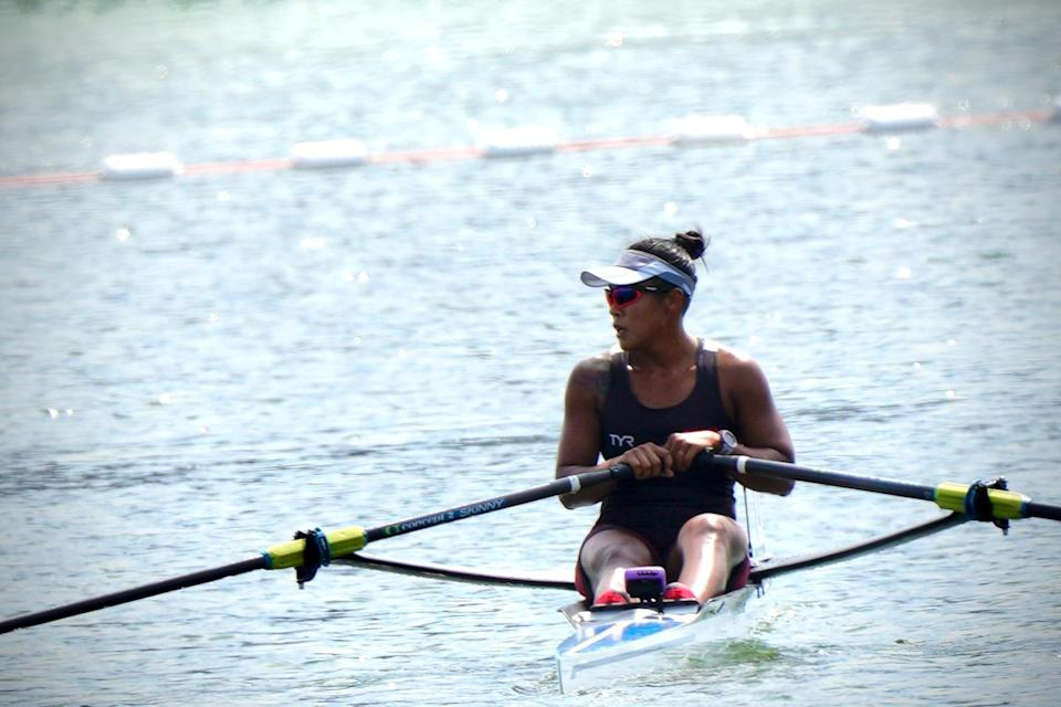 Singapore rower Joan Poh in action during her Tokyo Olympics heats. (PHOTO: Singapore National Olympic Council)