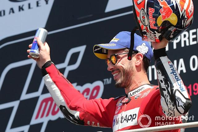 """Podio: Andrea Dovizioso, Ducati Team <span class=""""copyright"""">Gold and Goose / Motorsport Images</span>"""
