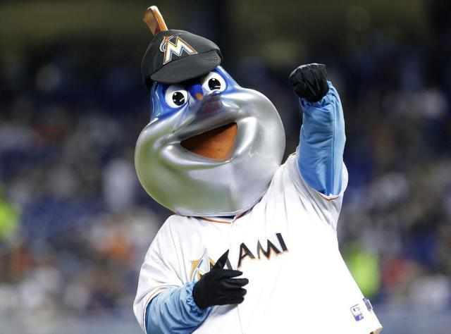 It's Miami Marlins mascot Billy the Marlin! (AP)