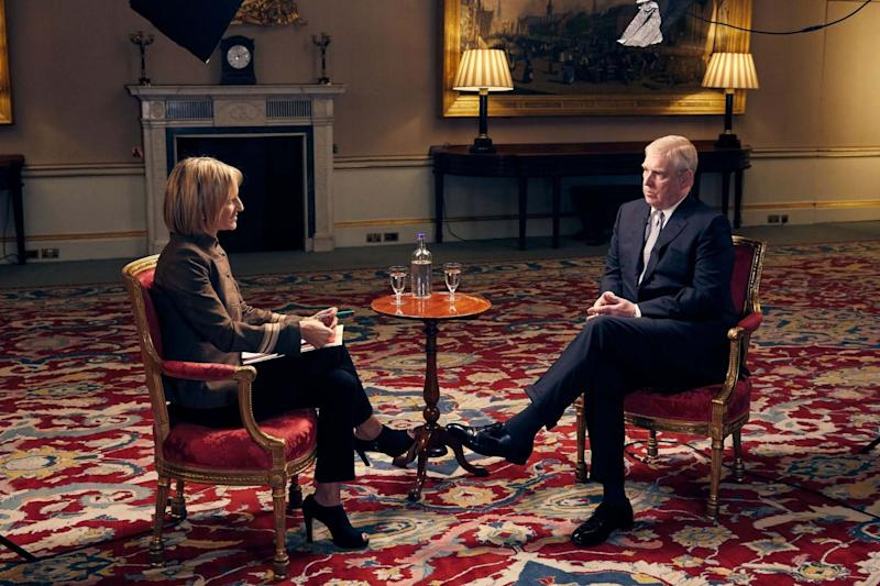 The Duke of York in an interview with BBC Newsnight's Emily Maitlis (PA)