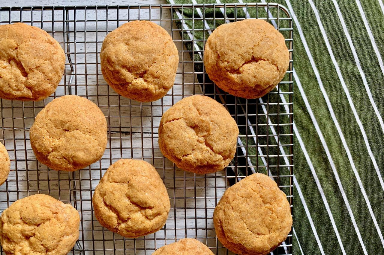 """<p><strong>Recipe:</strong> <strong><a href=""""https://www.southernliving.com/recipes/pumpkin-spice-cookies"""" target=""""_blank"""">Pumpkin Spice Cookies</a></strong></p> <p>If you want an extra decadent treat, frost these delicious cookies with cream cheese frosting.</p>"""