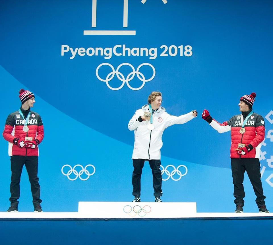 <p>Red Gerard: USA, snowboarding<br> redgerard: The last 24 hours have been so much more amazing than I can even explain. Speechless. Olympic BABY. @markclavin <br> (Photo via Instagram/redgerard) </p>