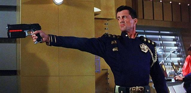 Stallone starred in another sci-fi comic-book adaptation in 1995's <i>Judge Dredd</i>. (Photo: Hollywood Pictures/Buena Vista Pictures)