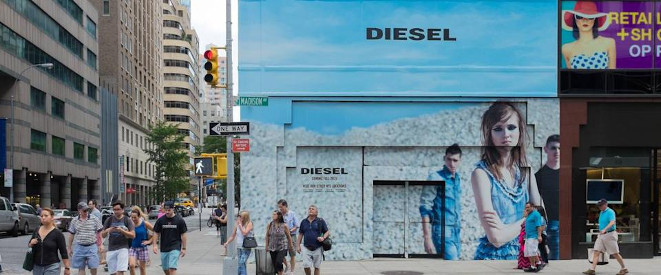 Diesel flagship store that is now closed. New York, NY