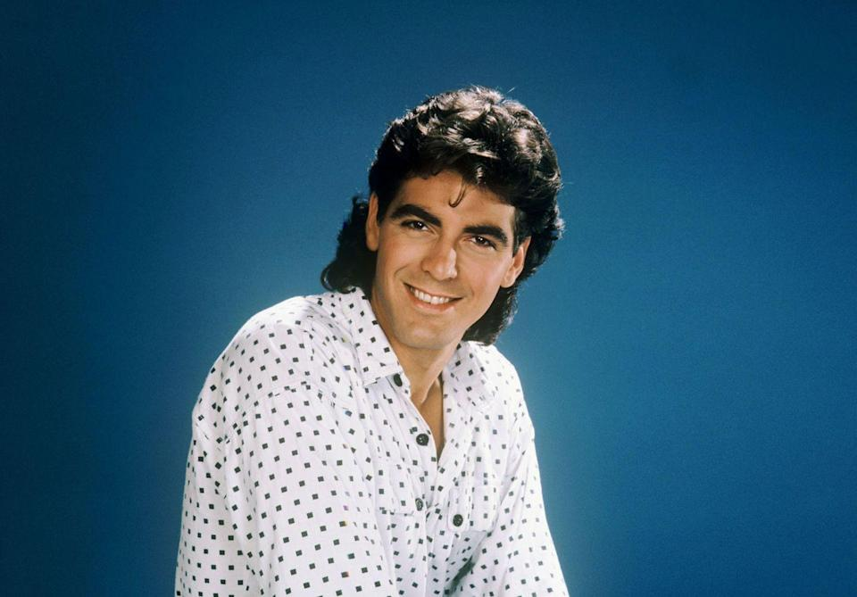 <p>Clooney's portrait for <em>The Facts of Life</em> in 1986.</p>