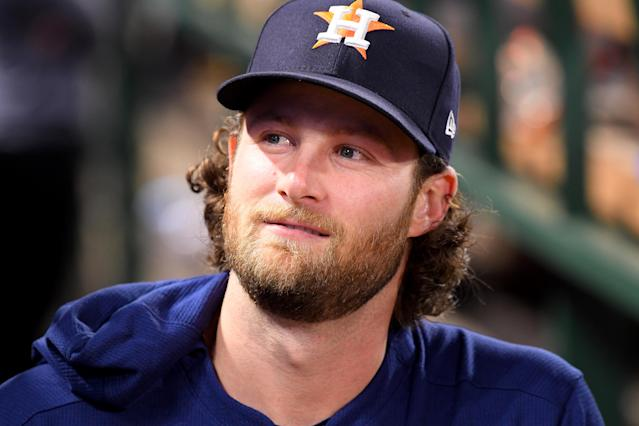 Gerrit Cole reportedly agreed to a $324 million contract with the Yankees, the richest ever for a pitcher. (Jayne Kamin-Oncea/Getty Images)