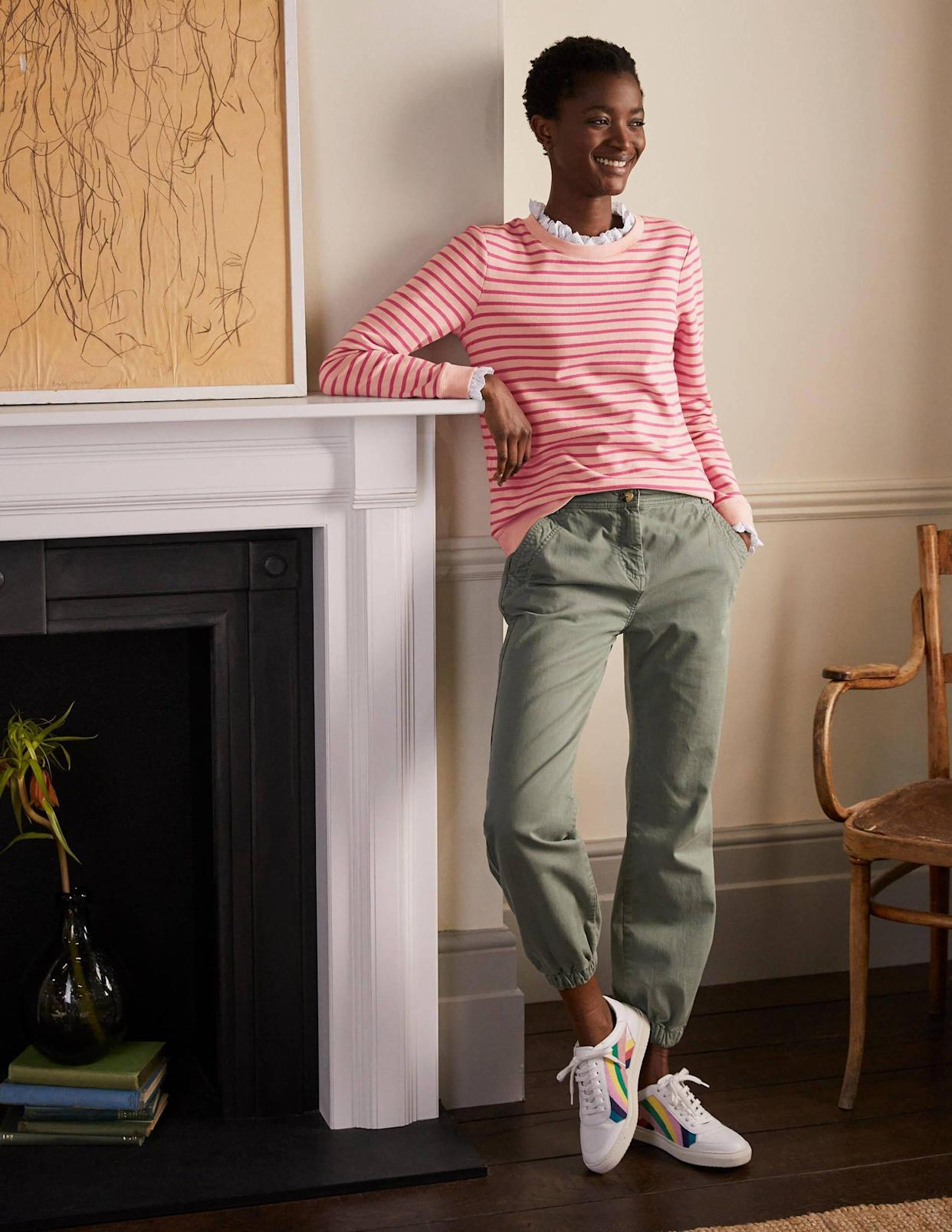 It's sold out already in many designs, but is still available in three hues. (Boden)
