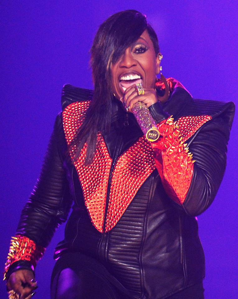 ATLANTA, GA - SEPTEMBER 29:  Missy Elliott performs onstage at the 2012 BET Hip Hop Awards at Boisfeuillet Jones Atlanta Civic Center on September 29, 2012 in Atlanta, Georgia.  (Photo by Rick Diamond/Getty Images for BET)