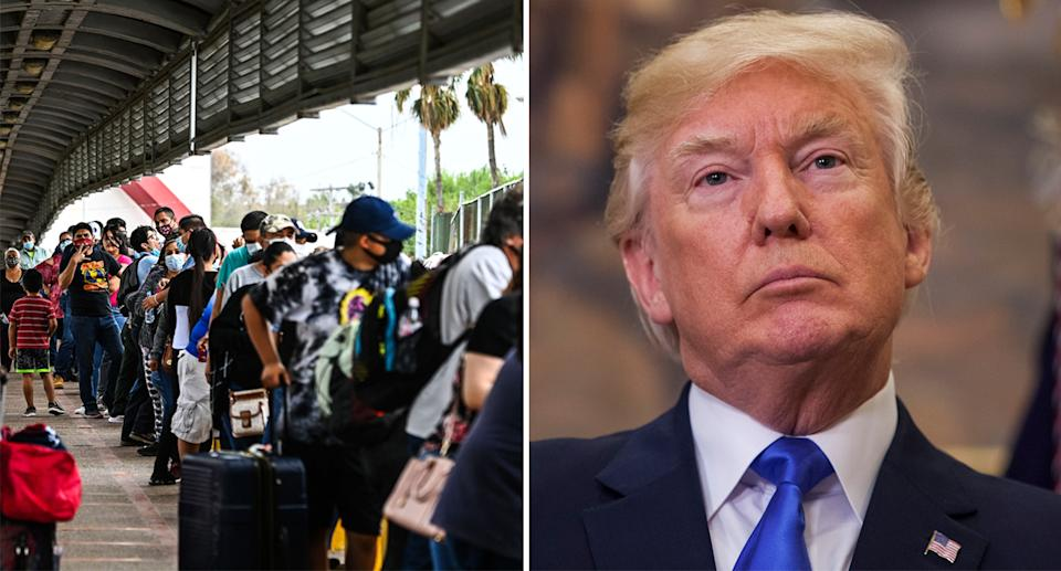 While the number of migrants heading north to the US is rising, Trump has decried the