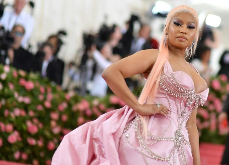 US rapper Nicki Minaj revealed to her 22.6 million Twitter followers she had not yet been vaccinated (AFP/ANGELA WEISS)