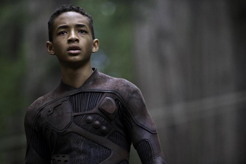 "This film publicity image released by Sony - Columbia Pictures shows Jaden Smith in a scene from ""After Earth."" (AP Photo/Sony, Columbia Pictures, Claudette Barius)"