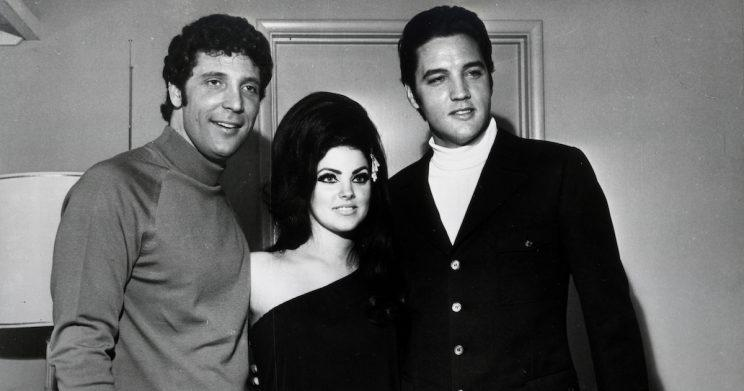 Best buddies: Tom Jones with Priscilla and Elvis Presley (Copyright: Getty/ Michael Ochs Archives)