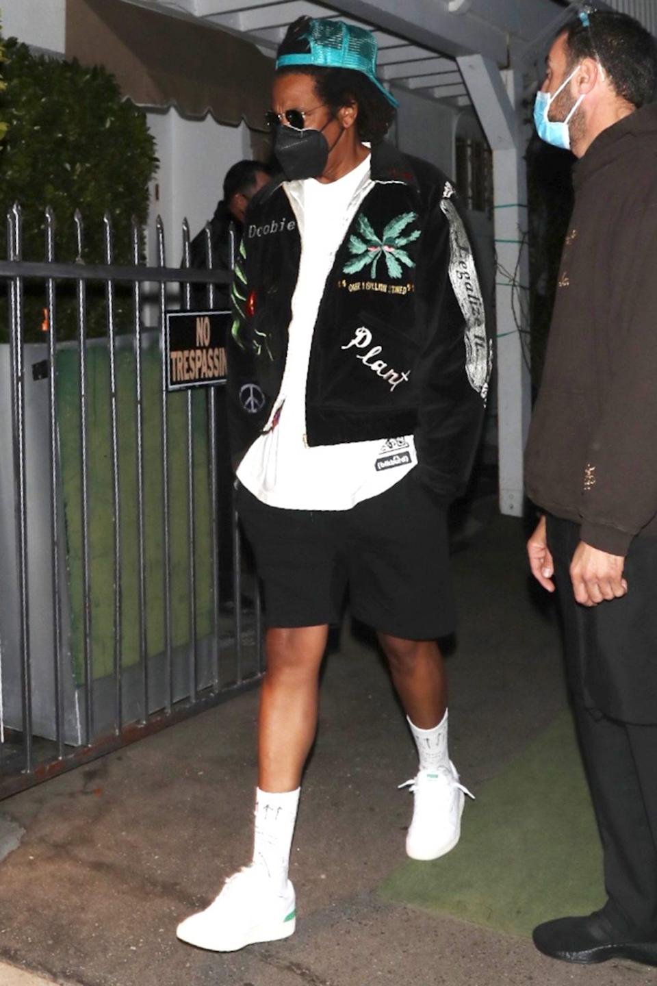 <p>JAY-Z leaves dinner at Giorgio Baldi and heads into a Tesla on Tuesday in L.A.</p>