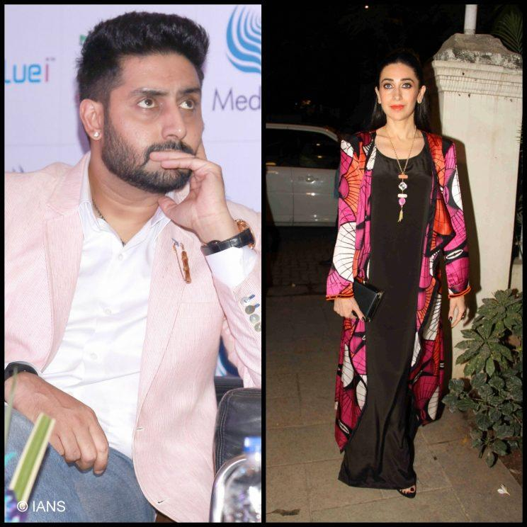 <p>Abhishek Bachchan dated Karishma Kapoor in the late 90s, and their engagement news was made official in October 2002, only to be called off four months later.</p>
