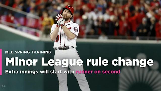 Minor League Baseball makes huge rule change: Extra innings will start with runner on second