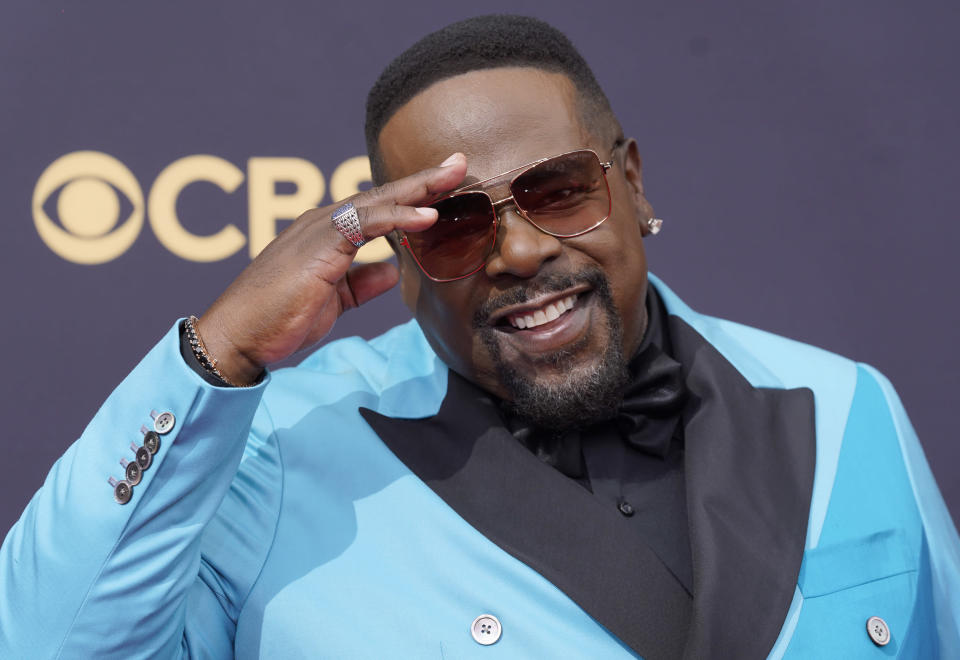 Cedric the Entertainer arrives at the 73rd Primetime Emmy Awards on Sunday, Sept. 19, 2021, at L.A. Live in Los Angeles. (AP Photo/Chris Pizzello)
