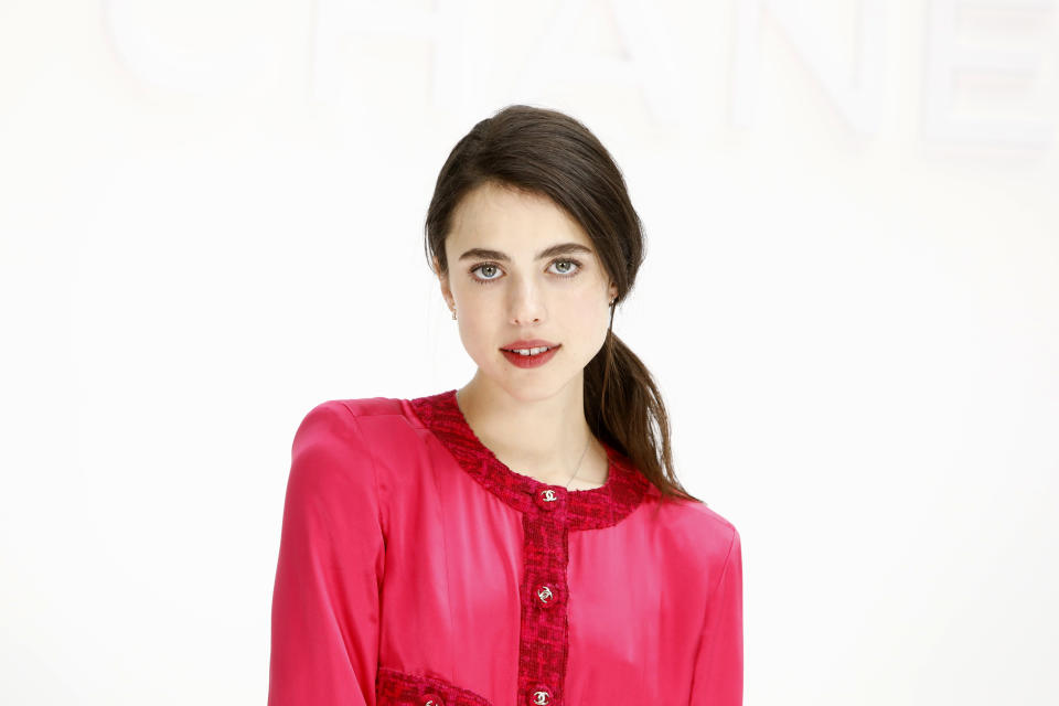 PARIS, FRANCE - MARCH 03: (EDITORIAL USE ONLY)  Margaret Qualley attends the Chanel show as part of the Paris Fashion Week Womenswear Fall/Winter 2020/2021 on March 03, 2020 in Paris, France. (Photo by Julien Hekimian/Getty Images)