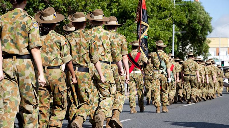Women will lead this year's Anzac Day march for the first time in its 102-year-old history. Source: Getty