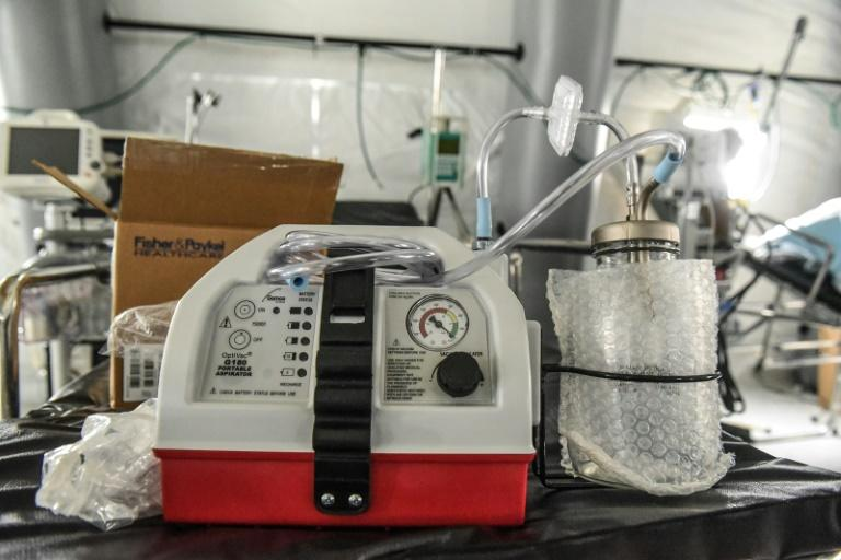 Mechanical ventilators needed to treat those suffering from respiratory distress due to COVID-19 are in short supply (AFP Photo/STEPHANIE KEITH)