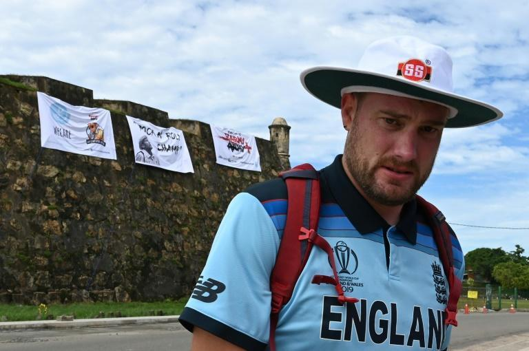 England cricket fan Rob Lewis was ordered off the ramparts of Galle Fort