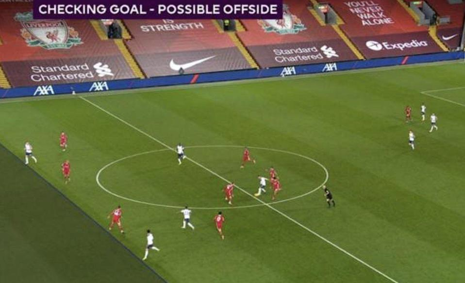 Son Heung-min was judged to be onside ahead of Tottenham's equaliser against Liverpool (PGMOL)