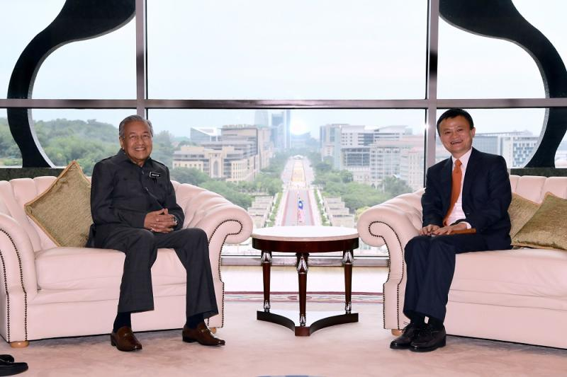 Prime Minister Dr Mahathir Mohamad and Alibaba's CEO Jack Ma during a meeting at the Prime Minister's Office in Putrajaya June 18, 2018. — Bernama pic