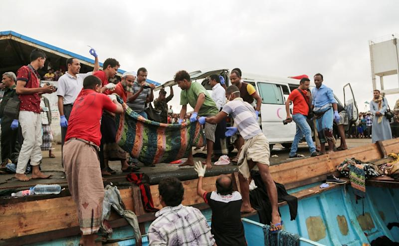 Dozens of Yemeni refugees, including women and children, were shot dead aboard a boat in the Red Sea off the rebel-held Yemeni port city of Hodeida