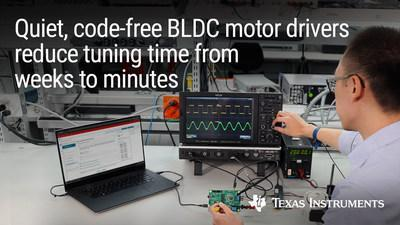 Built-in real-time control allows engineers to run BLDC motors in under 10 minutes while making motor systems quieter and up to 70% smaller