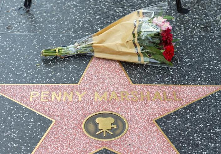 """Penny Marshall's family described her as """"a comedic natural with a photographic memory and an instinct for slapstick"""" (AFP Photo/VALERIE MACON)"""
