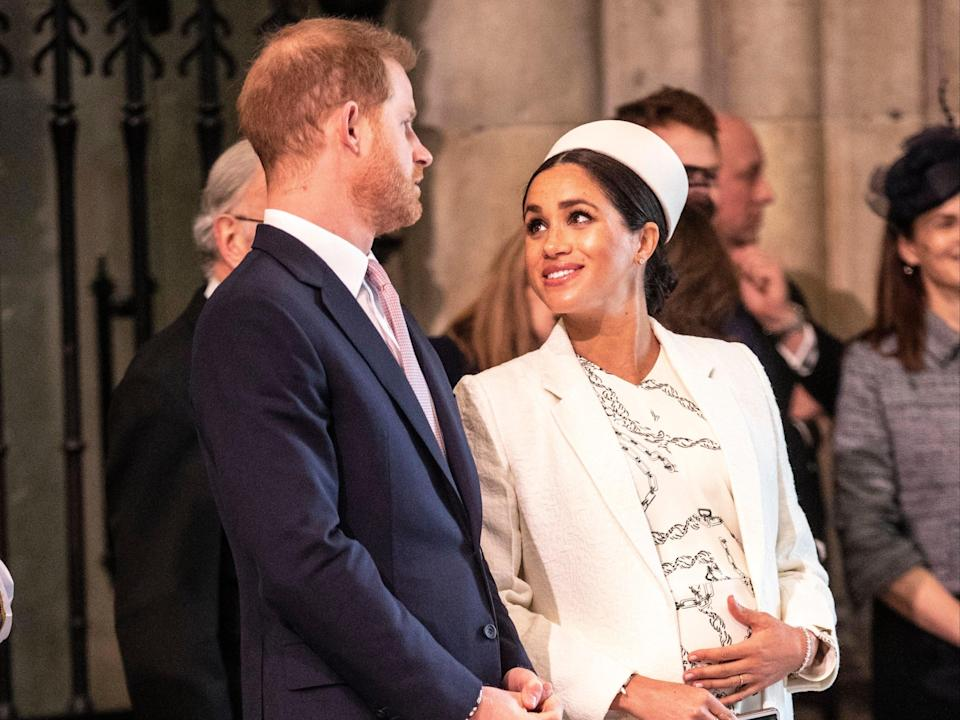 Prince Harry and Meghan in March 2019 (Shutterstock)