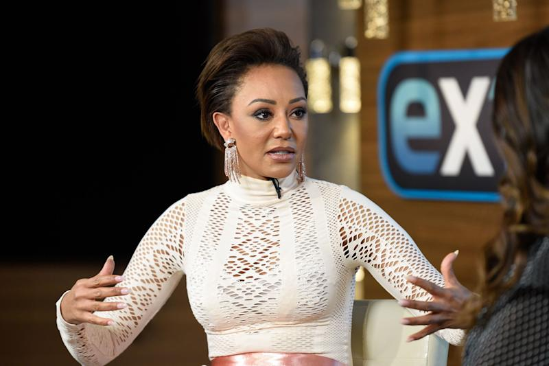 UNIVERSAL CITY, CALIFORNIA - DECEMBER 04: Mel B visits 'Extra' at Universal Studios Hollywood on December 04, 2018 in Universal City, California. (Photo by Noel Vasquez/Getty Images)