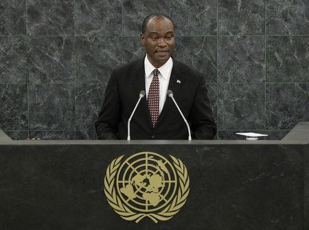 Samura Kamara, Foreign Minister of Sierra Leone, speaks during the 68th Session of the United Nations General Assembly in New York