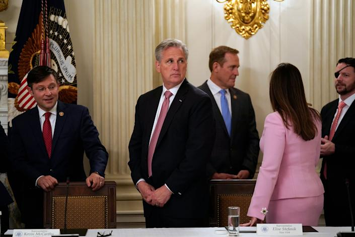 I am House Minority Leader Kevin McCarthy, and I am invincible! (Photo: Evan Vucci/ASSOCIATED PRESS)