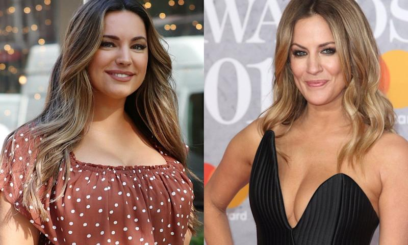 Former 'Love Island' host Kelly Brook has accused new presenter Caroline Flack of 'following her life'