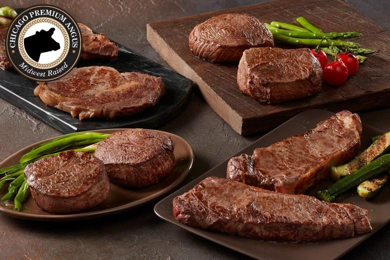 """<p><strong>Chicago's</strong></p><p>mychicagosteak.com</p><p><a href=""""https://go.redirectingat.com?id=74968X1596630&url=https%3A%2F%2Fwww.mychicagosteak.com%2Fshop%2Fbest-sellers%2Fassortments%2Fchicago-s-best-seller-assrt108.html&sref=https%3A%2F%2Fwww.townandcountrymag.com%2Fleisure%2Fdining%2Fg32418112%2Fbest-meat-delivery-services%2F"""" rel=""""nofollow noopener"""" target=""""_blank"""" data-ylk=""""slk:Shop Now"""" class=""""link rapid-noclick-resp"""">Shop Now</a></p><p>This delivery company offers a taste of exactly what has made Chicago one of the most storied hubs of high-quality meat production in the country. From dry aged USDA Prime steaks and American Wagyu to steak burgers, ribs, and surf and turf, you'll find something to please every palate. </p>"""