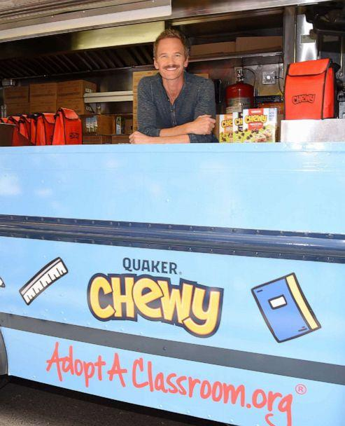 PHOTO: Neil Patrick Harris poses for a photo at the Quaker Chewy food truck in New York, Sept. 4, 2019. (Michael Simon/www.Startraksphoto.com for Quaker)