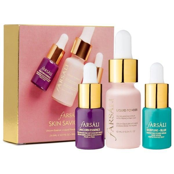<p>The <span>Farsali Skin Saviors Set</span> ($25) is perfect for prepping skin for a flawless beat.</p>