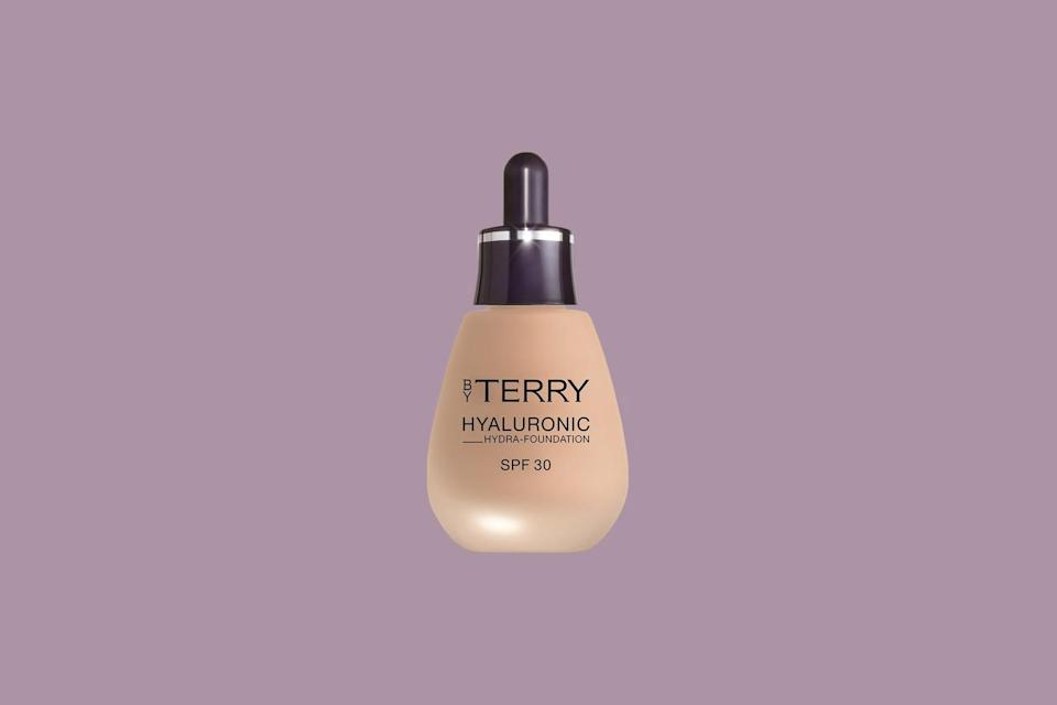 """<p>""""This foundation is an excellent choice if you have dry skin,"""" says New York City-based dermatologist <a href=""""https://www.michelegreenmd.com/"""" rel=""""nofollow noopener"""" target=""""_blank"""" data-ylk=""""slk:Dr. Michele Green"""" class=""""link rapid-noclick-resp"""">Dr. Michele Green</a>. The <a href=""""https://www.marthastewart.com/1538676/clean-skincare-beauty-products-explained"""" rel=""""nofollow noopener"""" target=""""_blank"""" data-ylk=""""slk:vegan formulation"""" class=""""link rapid-noclick-resp"""">vegan formulation</a> is free of harsh chemicals and wasn't tested on animals. It's starring ingredient? """"Hyaluronic acid, which provides a plumping effect, providing an instant lift. It also contains sweet almond which is enriched with vitamin E, vitamin A, fatty acids, potassium, and zinc.""""</p> <p><strong><em>Shop Now: </em></strong><em>By </em><em>Terry Hyaluronic Hydra Foundation</em><em>, $59, <a href=""""https://www.spacenk.com/uk/en_GB/makeup/complexion/foundation/hyaluronic-hydra-foundation-spf30-MUK200026358.html"""" rel=""""nofollow noopener"""" target=""""_blank"""" data-ylk=""""slk:spacenk.com"""" class=""""link rapid-noclick-resp"""">spacenk.com</a></em><em>.</em></p>"""