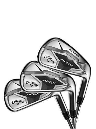 """<p><strong>Callaway</strong></p><p>amazon.com</p><p><strong>1729.82</strong></p><p><a href=""""https://www.amazon.com/dp/B07M5MN1C3?tag=syn-yahoo-20&ascsubtag=%5Bartid%7C2089.g.1543%5Bsrc%7Cyahoo-us"""" rel=""""nofollow noopener"""" target=""""_blank"""" data-ylk=""""slk:Shop Now"""" class=""""link rapid-noclick-resp"""">Shop Now</a></p><p>Our favorite forged irons are Callaway's Apex 19 — the only irons awarded 20 out of 20 stars on the <a href=""""https://www.golfdigest.com/story/golf-digest-hot-list-2019-announcing-the-129-gold-and-silver-medal-winning-game-changing-clubs-worth-your-time"""" rel=""""nofollow noopener"""" target=""""_blank"""" data-ylk=""""slk:Golf Digest Hot List"""" class=""""link rapid-noclick-resp"""">Golf Digest Hot List</a>. They are categorized as """"player's distance irons,"""" which means they are made for frequent golfers with average handicaps who could use a few extra yards from their clubs. Because honestly, who <em>doesn't</em> want the ball to travel further?</p><p>The body of this club is made from a mild carbon steel wrapped in a carbon outer layer, which provides an incredibly soft feeling. An added dampening technology minimizes vibrations on the occasional mishit. And Callaway's Face Cup technology delivers optimum ball launch and distance without sacrificing control. </p><p>Straight out of the box, these clubs are a game changer, with their True Temper Elevate 95 Steel shaft. But if you're looking for even better performance and a custom look, check out their <a href=""""http://viewer.zmags.com/publication/7f37abe9#/7f37abe9/1"""" rel=""""nofollow noopener"""" target=""""_blank"""" data-ylk=""""slk:premium shaft options"""" class=""""link rapid-noclick-resp"""">premium shaft options</a> for a custom look and feel.</p>"""