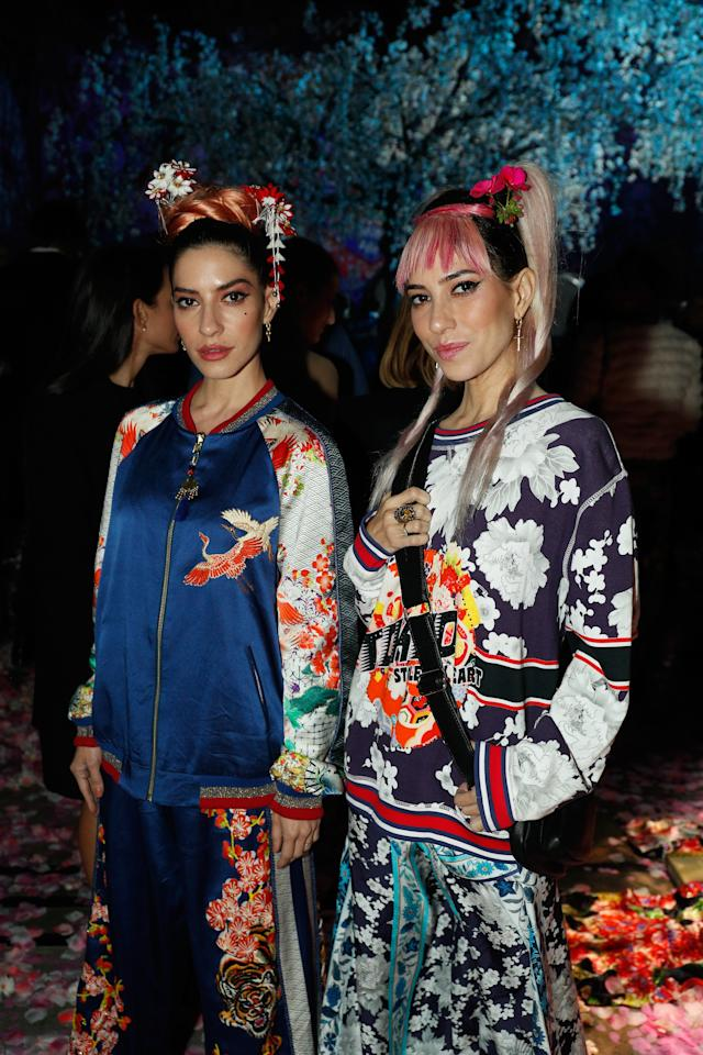 <p>The Veronicas wore some stunning designs by Camilla for the MBFWA closing show.<br /> Source: Getty </p>