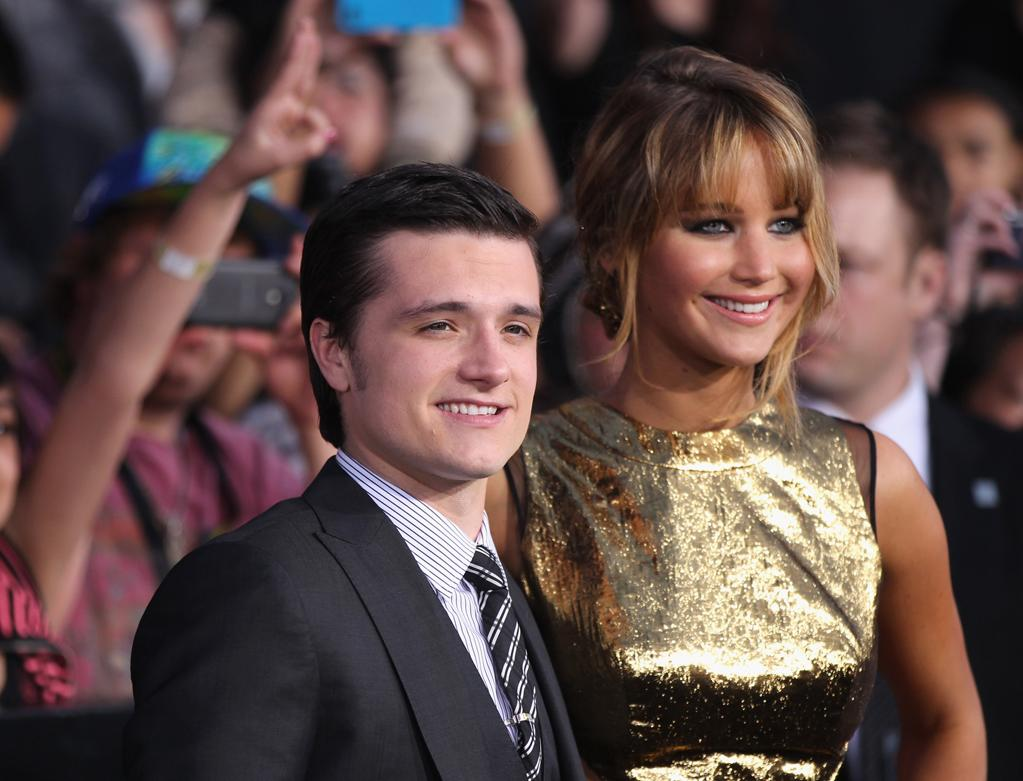 LOS ANGELES, CA - MARCH 12: Actors Josh Hutcherson (L) and Jennifer Lawrence attend 'The Hunger Games' Los Angeles Premiere on March 12, 2012 in Los Angeles, California. (Photo by Mark Davis/Getty Images)