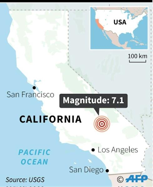 7.1 magnitude earthquake in Southern California (AFP Photo/)