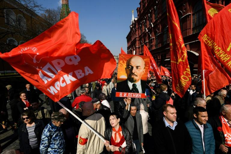 "The Russian Communist Party has lampted attempts to ""discredit Lenin"" in film"