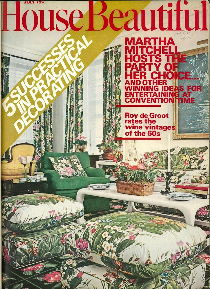 <p>Looks like the palm leaf prints of today would certainly work in homes of the early 1970s as well.</p>