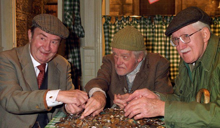 Peter Sallis as 'Cleggy' in Last of the Summer Wine - Credit: BBC